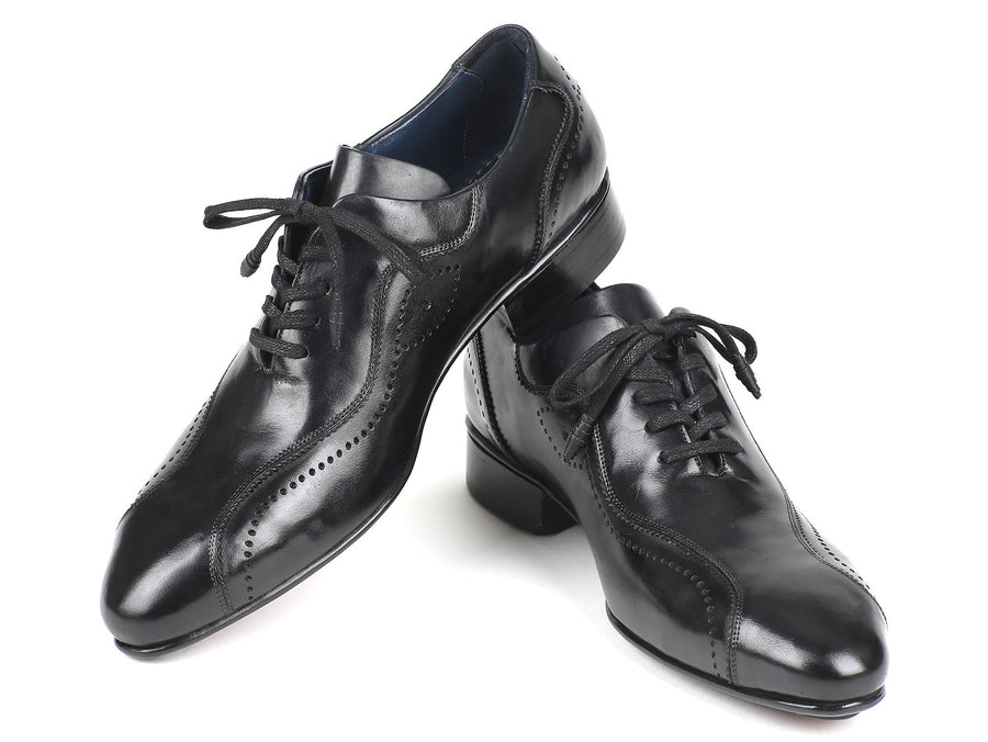 Paul Parkman Handmade Lace-Up Casual Shoes For Men Black