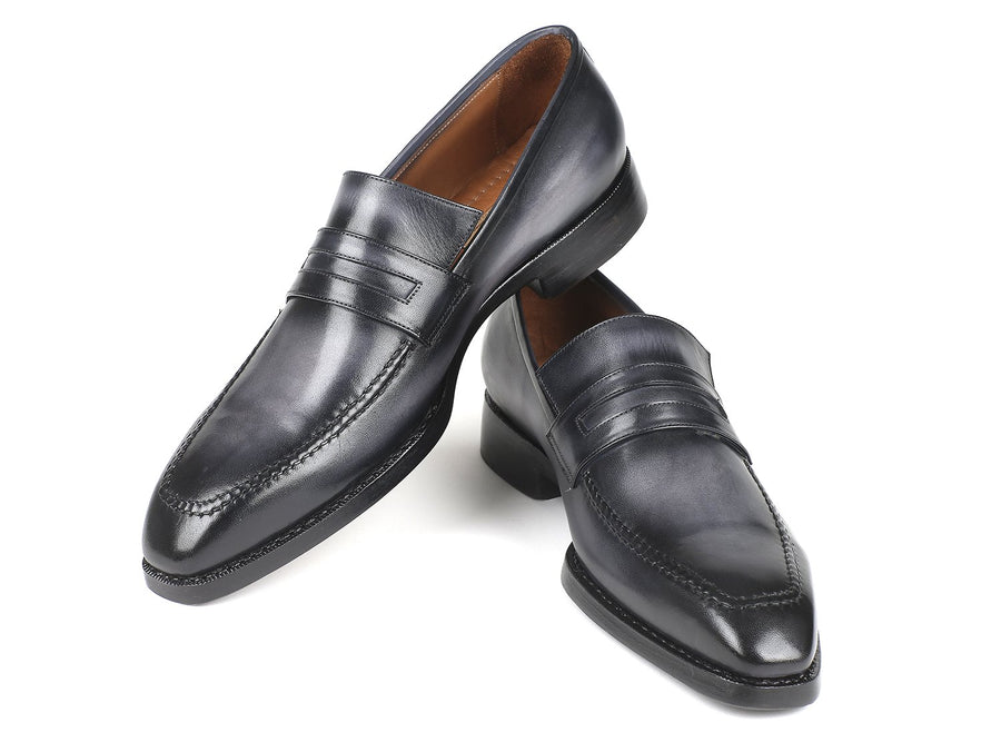 Paul Parkman Gray Burnished Goodyear Welted Loafers EU 41 - US 8 / 8.5