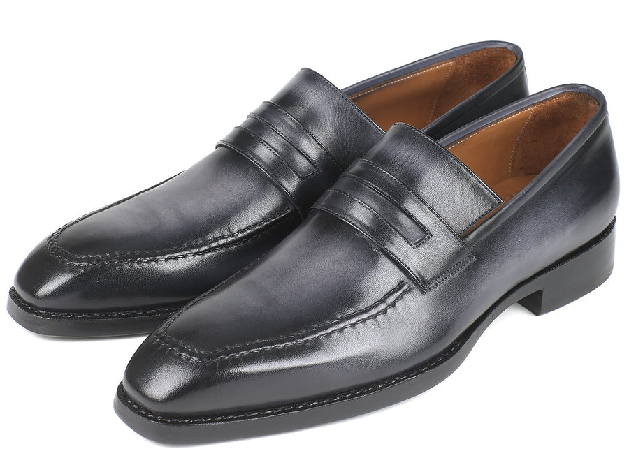 Paul Parkman Gray Burnished Goodyear Welted Loafers EU 40 - US 7.5