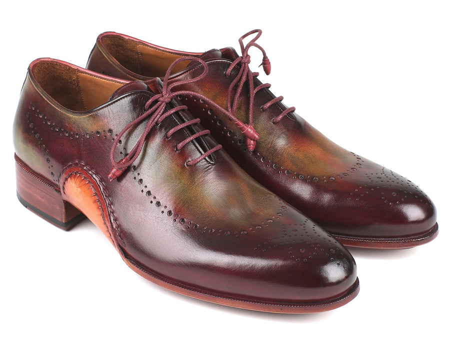 Paul Parkman Opanka Construction Green & Bordeaux Oxfords EU 38 - US 6
