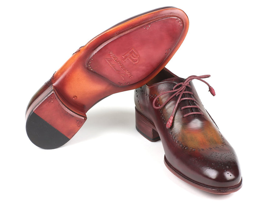 Paul Parkman Opanka Construction Green & Bordeaux Oxfords EU 42 - US 9 / 9.5