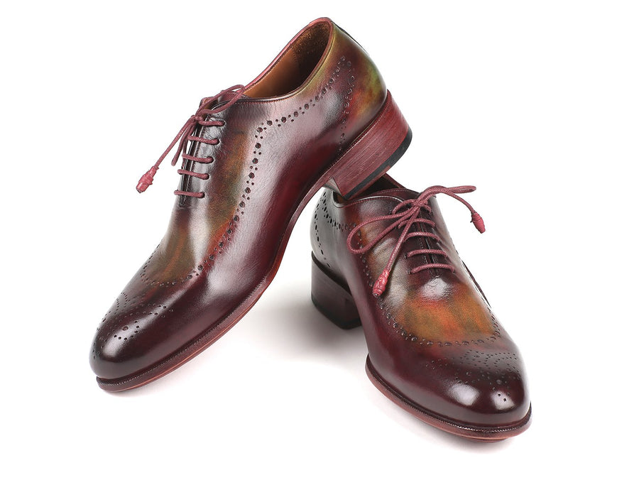 Paul Parkman Opanka Construction Green & Bordeaux Oxfords EU 41 - US 8 / 8.5