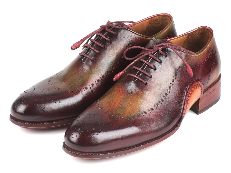 Paul Parkman Opanka Construction Green & Bordeaux Oxfords EU 40 - US 7.5