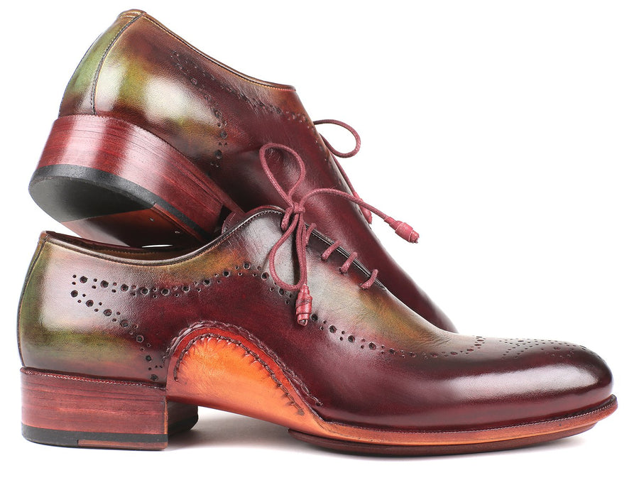 Paul Parkman Opanka Construction Green & Bordeaux Oxfords EU 39 - US 6.5 / 7