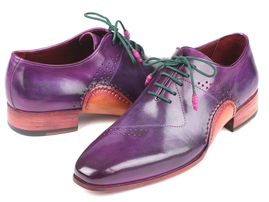 Paul Parkman Opanka Construction Purple Hand-Painted Oxfords EU 39 - US 6.5 / 7