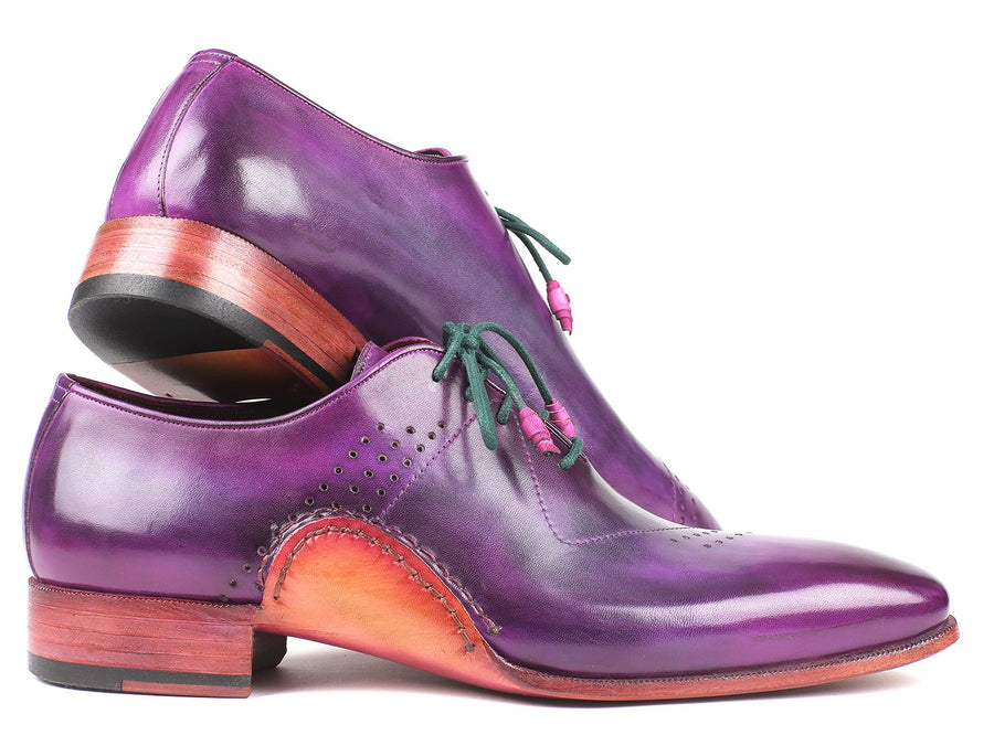 Paul Parkman Opanka Construction Purple Hand-Painted Oxfords EU 38 - US 6