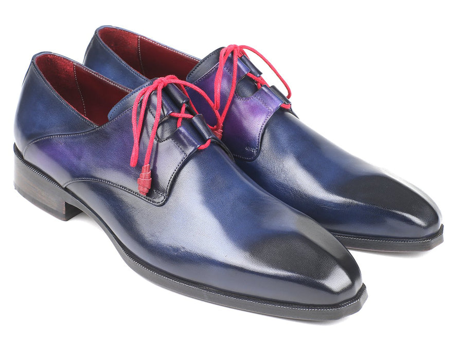 Paul Parkman Ghillie Lacing Blue Dress Shoes
