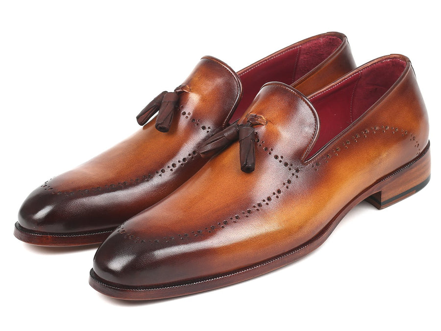 Paul Parkman Men's Tassel Loafer Brown EU 40 - US 7.5