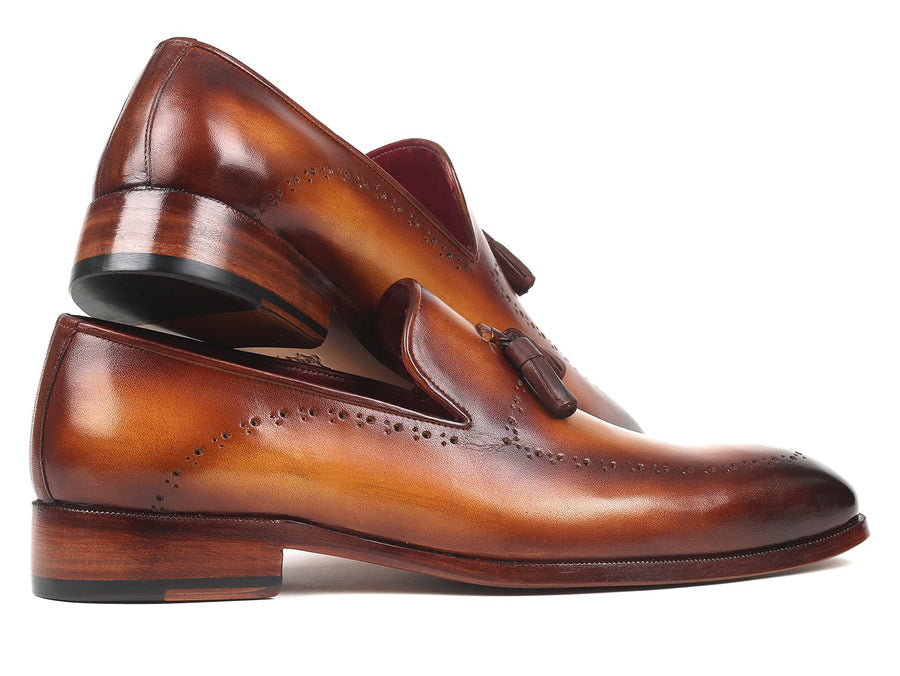 Paul Parkman Men's Tassel Loafer Brown EU 41 - US 8 / 8.5