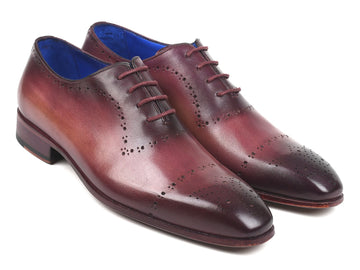 Paul Parkman Burgundy Hand-Painted Classic Brogues EU 38 - US 6