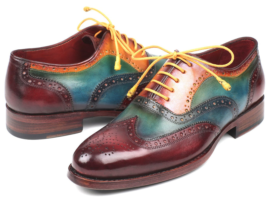 Paul Parkman Wingtip Oxfords Goodyear Welted Multi-Color EU 38 - US 6