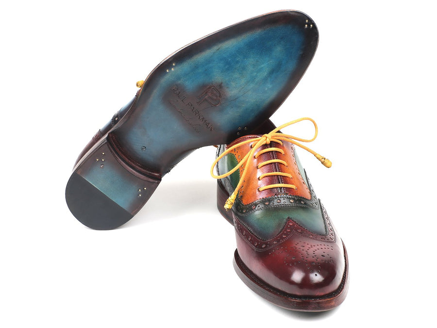 Paul Parkman Wingtip Oxfords Goodyear Welted Multi-Color EU 39 - US 6.5 / 7