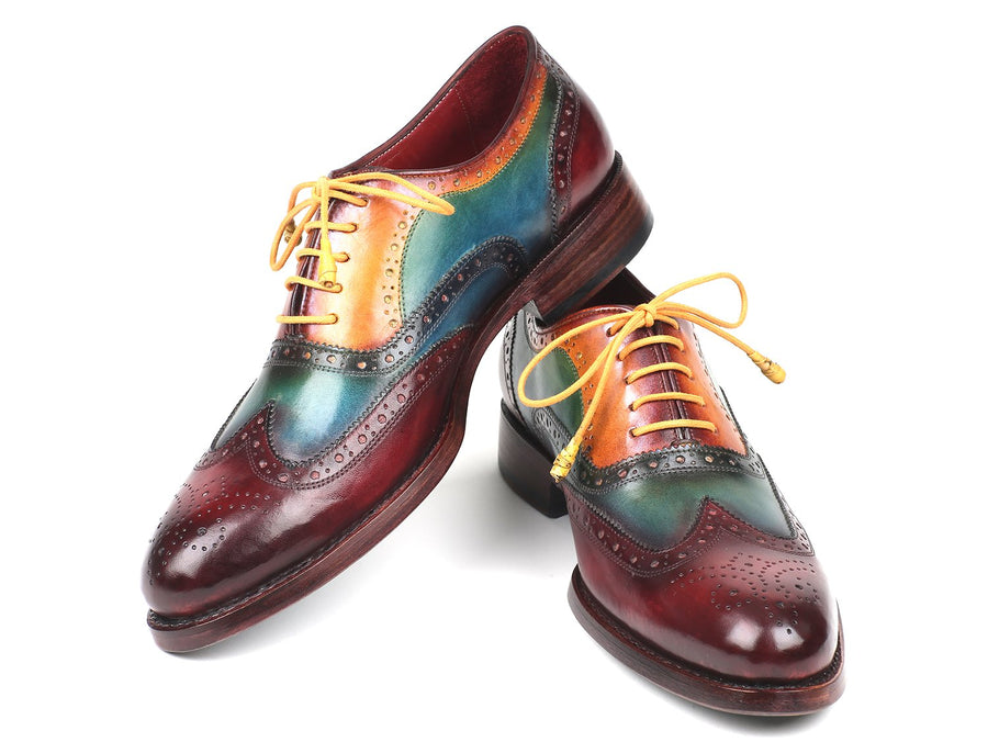 Paul Parkman Wingtip Oxfords Goodyear Welted Multi-Color EU 41 - US 8 / 8.5