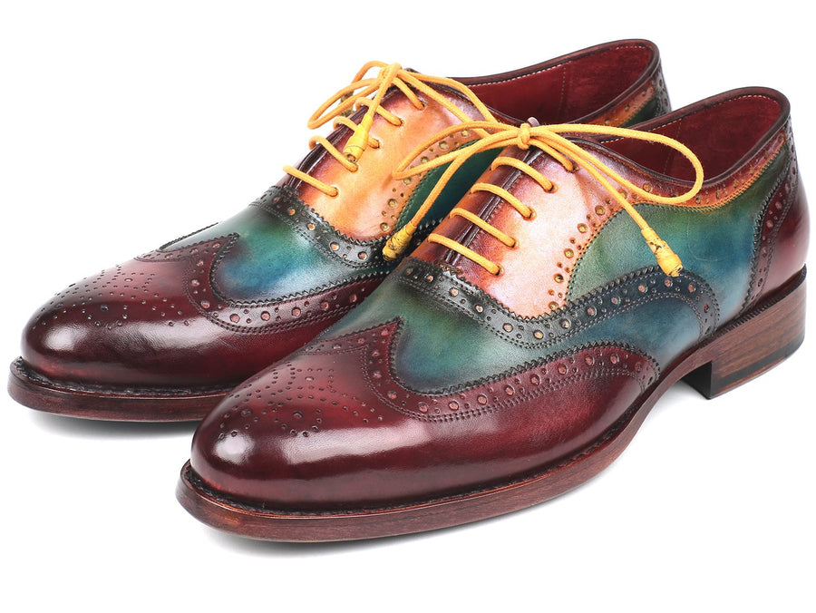 Paul Parkman Wingtip Oxfords Goodyear Welted Multi-Color EU 42 - US 9 / 9.5