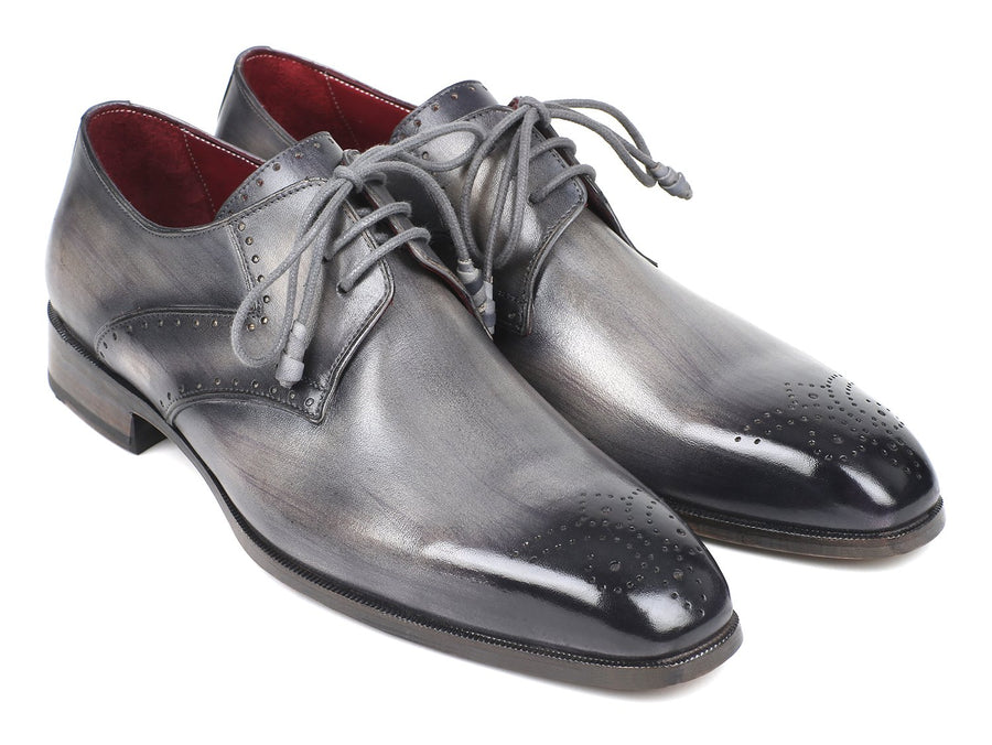 Paul Parkman Men's Gray Medallion Toe Derby Shoes '-----