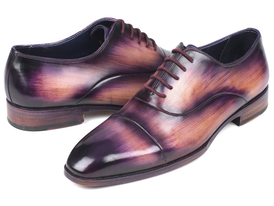 Paul Parkman Men's Cap-Toe Oxfords Purple EU 40 - US 7.5