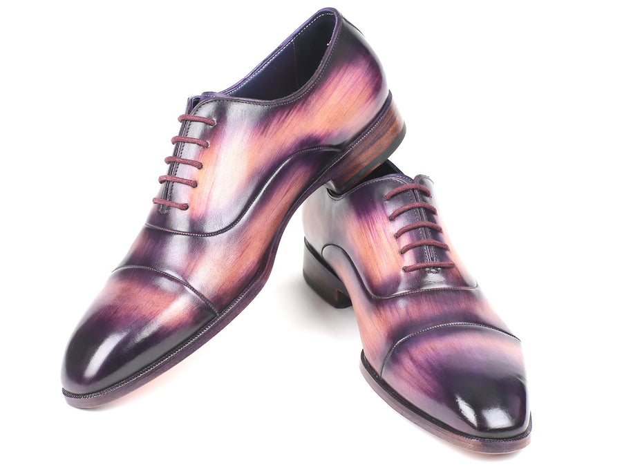 Paul Parkman Men's Cap-Toe Oxfords Purple EU 38 - US 6