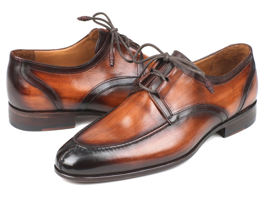 Paul Parkman Ghillie Lacing Brown Burnished Dress Shoes EU 38 - US 6
