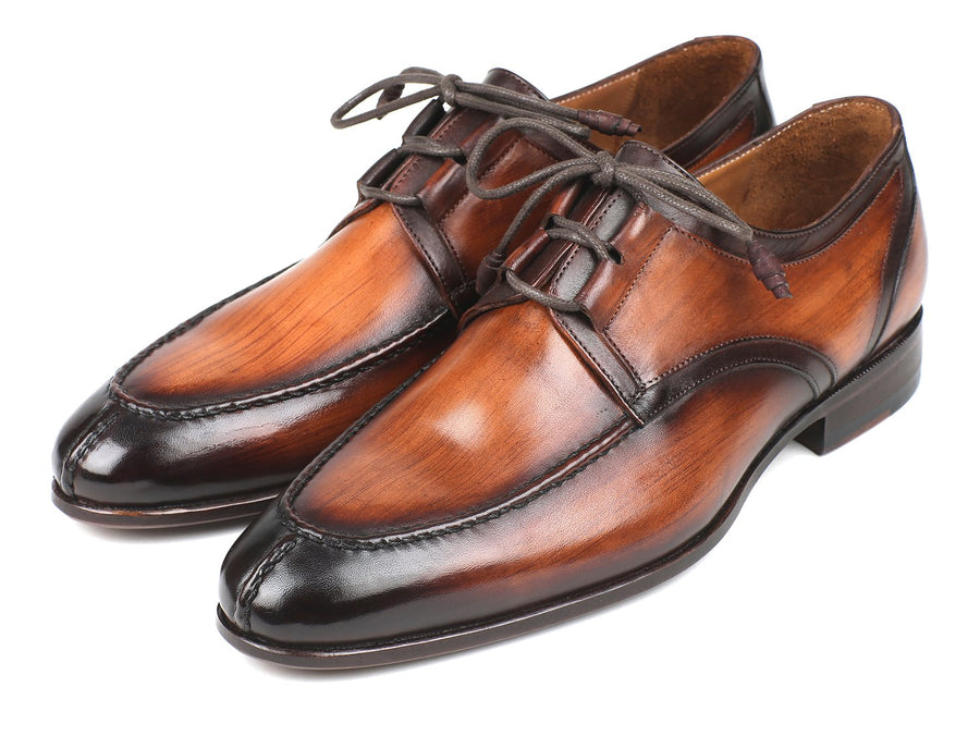 Paul Parkman Ghillie Lacing Brown Burnished Dress Shoes EU 41 - US 8 / 8.5
