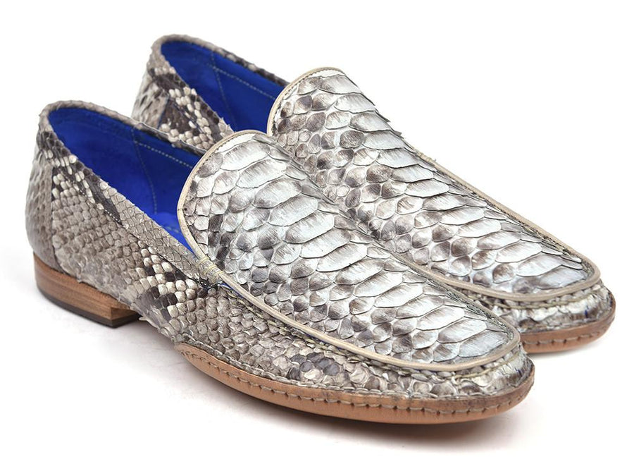 Paul Parkman Natural Genuine Python Opanka Stitched Moccasins '-----