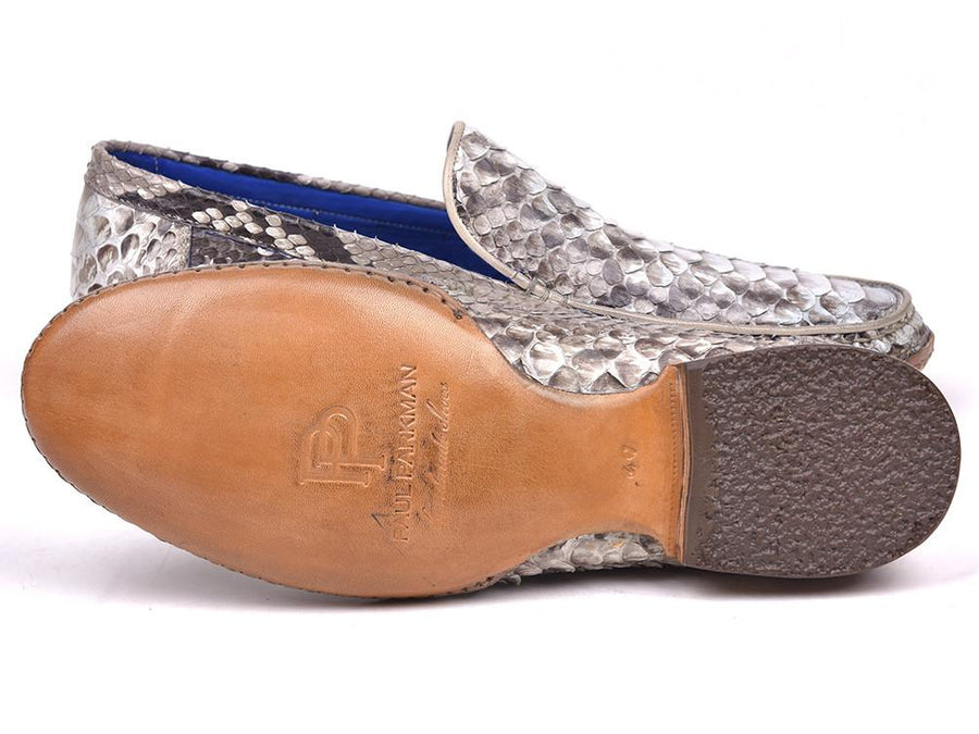 Paul Parkman Natural Genuine Python Opanka Stitched Moccasins EU 38 - US 6