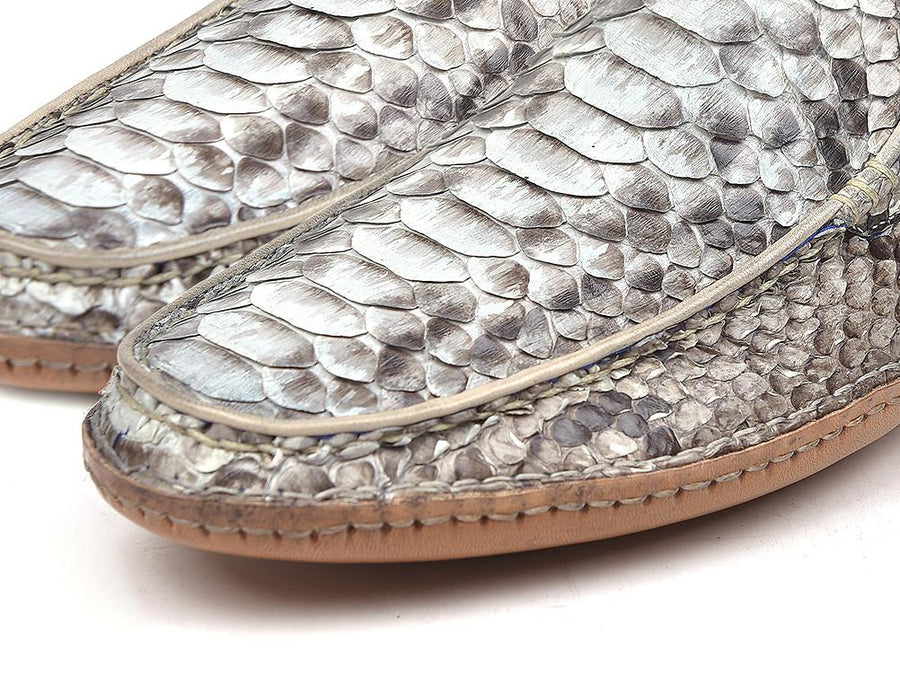 Paul Parkman Natural Genuine Python Opanka Stitched Moccasins EU 40 - US 7.5