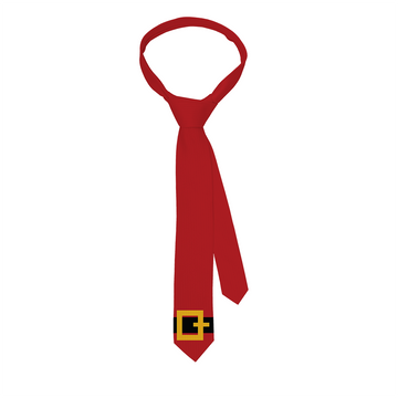 Santa Belt Red Tie