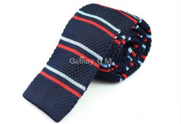 Richmond Navy Knit Tie