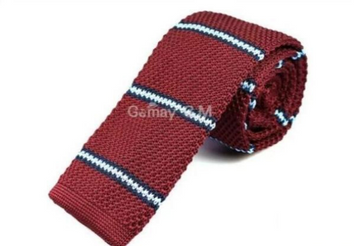 Seaford Burgundy Knit Tie