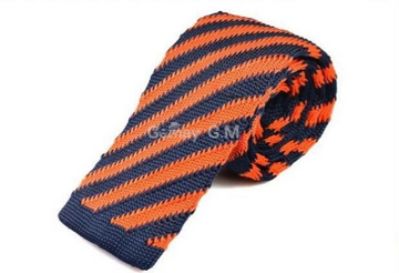 Stanley Orange Knit Tie