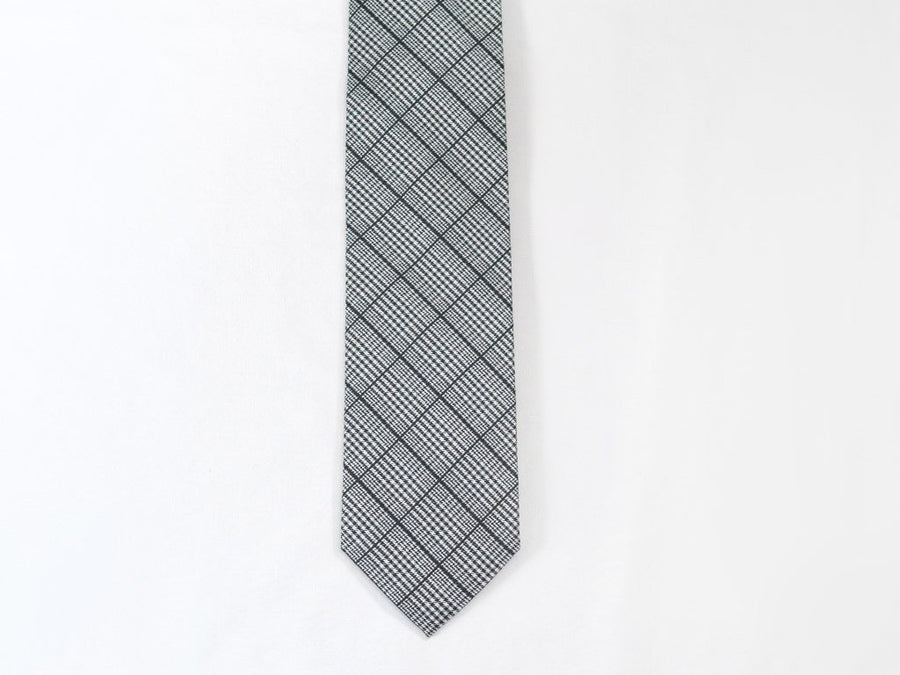 Black Plaid Necktie