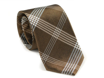 Brown Tartan Plaid Necktie