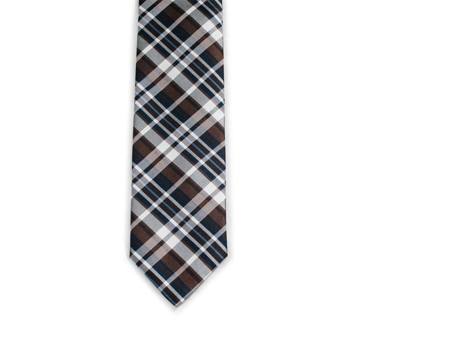 Brownie Plaid Necktie