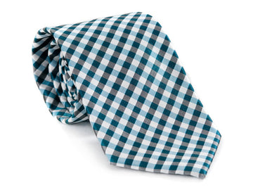 Caribbean Checkered Plaid Necktie