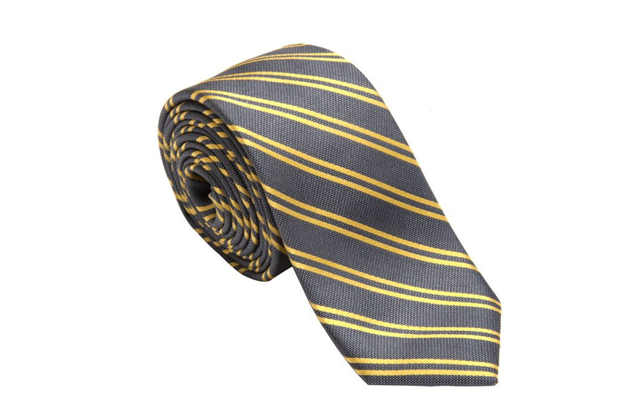 Club Platinum Striped Necktie