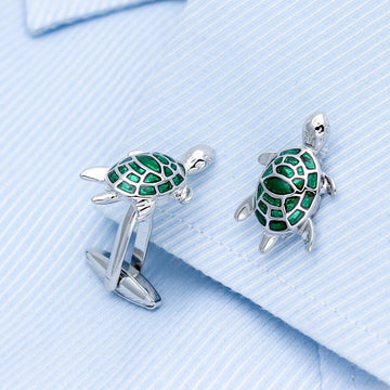 Green Turtle Cufflinks Green Turtle Cufflinks
