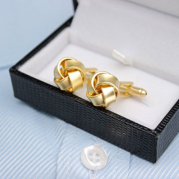 Braided Gold Cufflinks