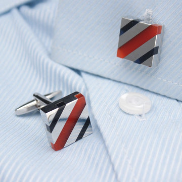 Rubies Inlaid Cufflinks