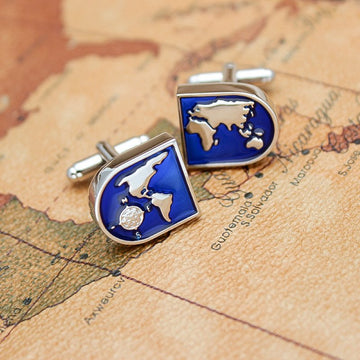 The World Map Cufflinks The World Map Cufflinks