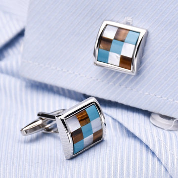 Business Style Lattice Cufflinks