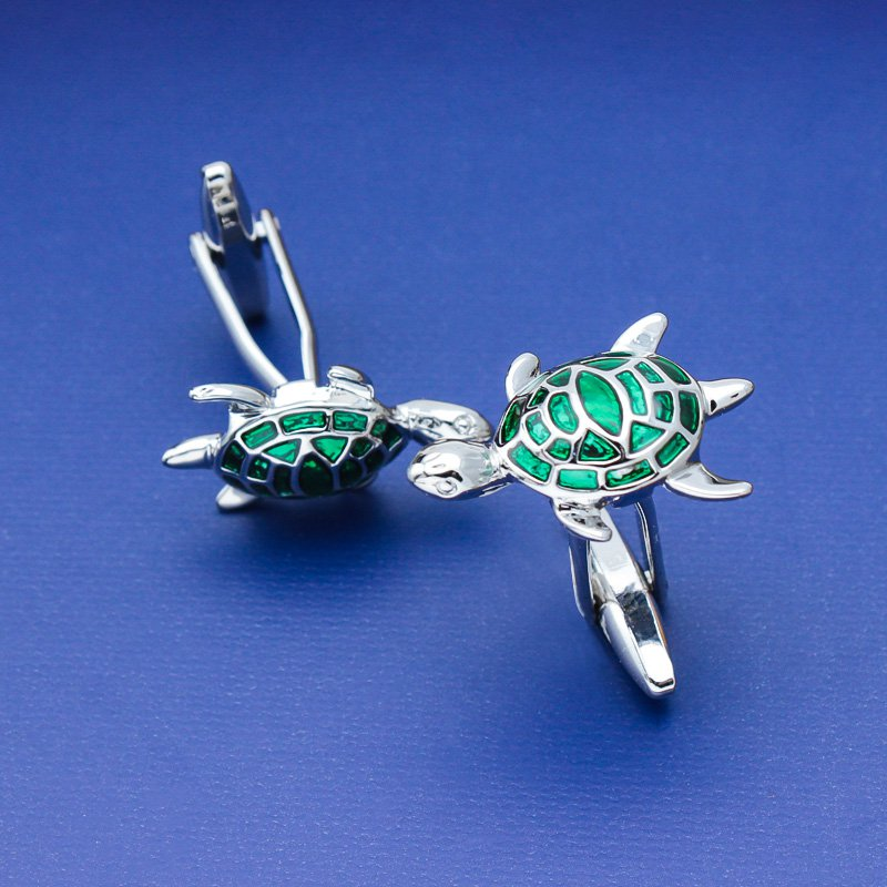Green Turtle Cufflinks