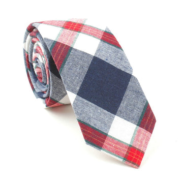 Axis Plaid Necktie Red
