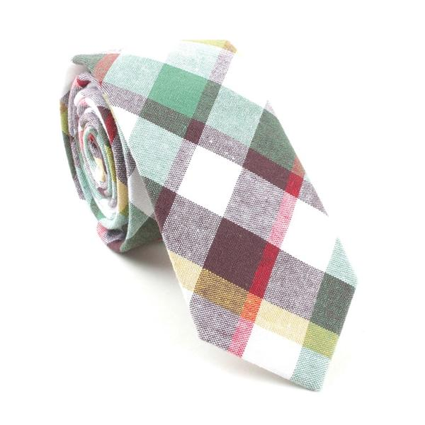 Axis Plaid Necktie Green