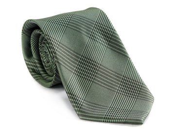 Green Diamond Plaid Necktie