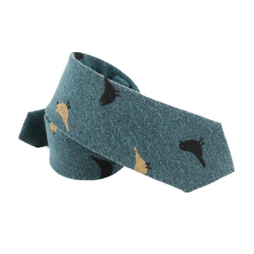 Bird's Eye Necktie Green