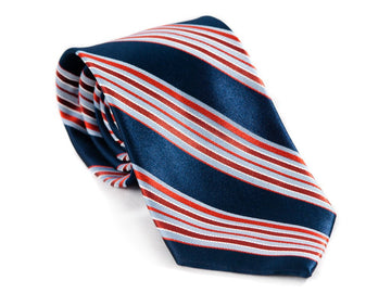 Nightly News Striped Necktie