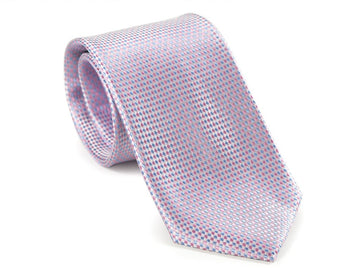 Pink Eye Diamond Pattern Necktie