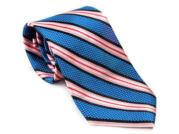 Pink Ribbon Striped Necktie