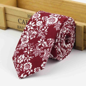 Middleton Burgundy Skinny Tie