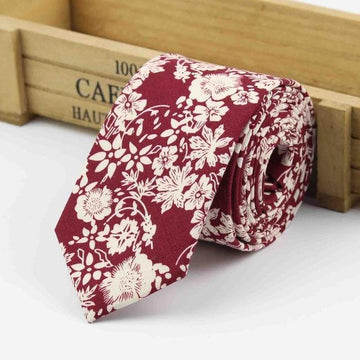 Nailsworth Burgundy Skinny Tie